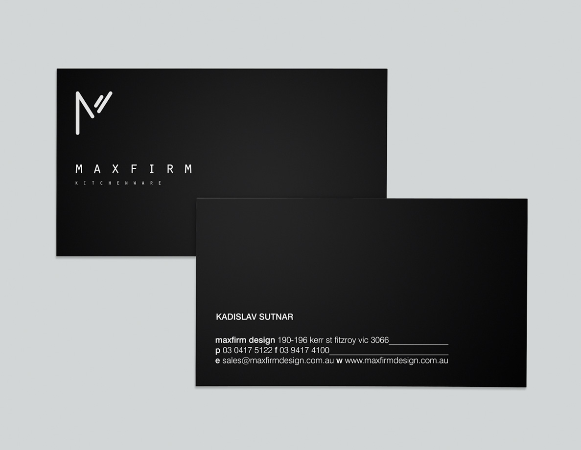 Logo and Business Card Design for Max Firm KItchenware