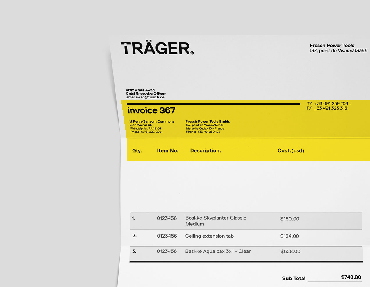 Logotype Stationery Invoice