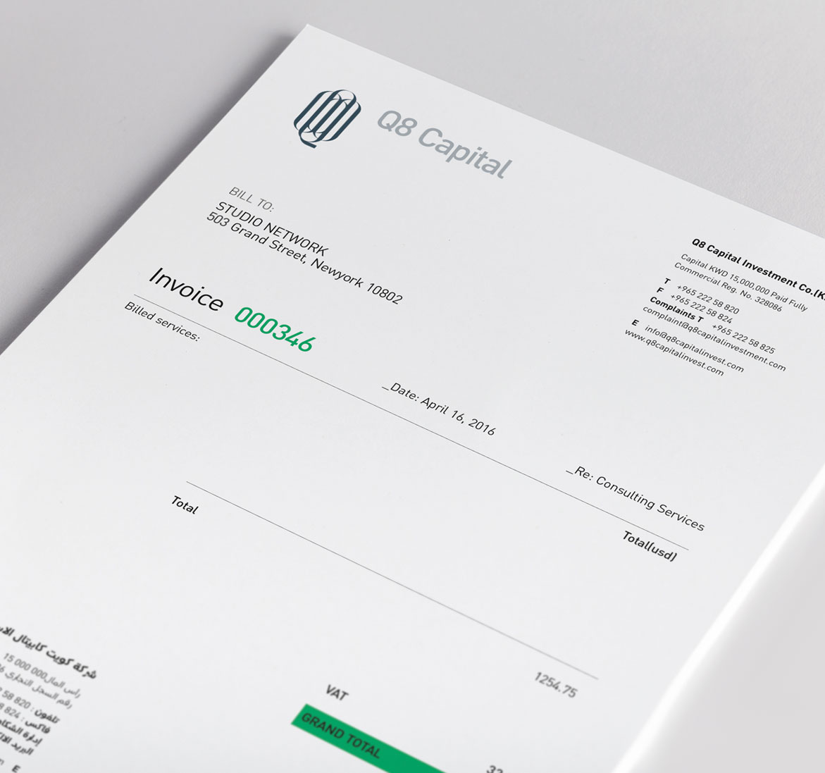 Corporate Identity for Financial Company