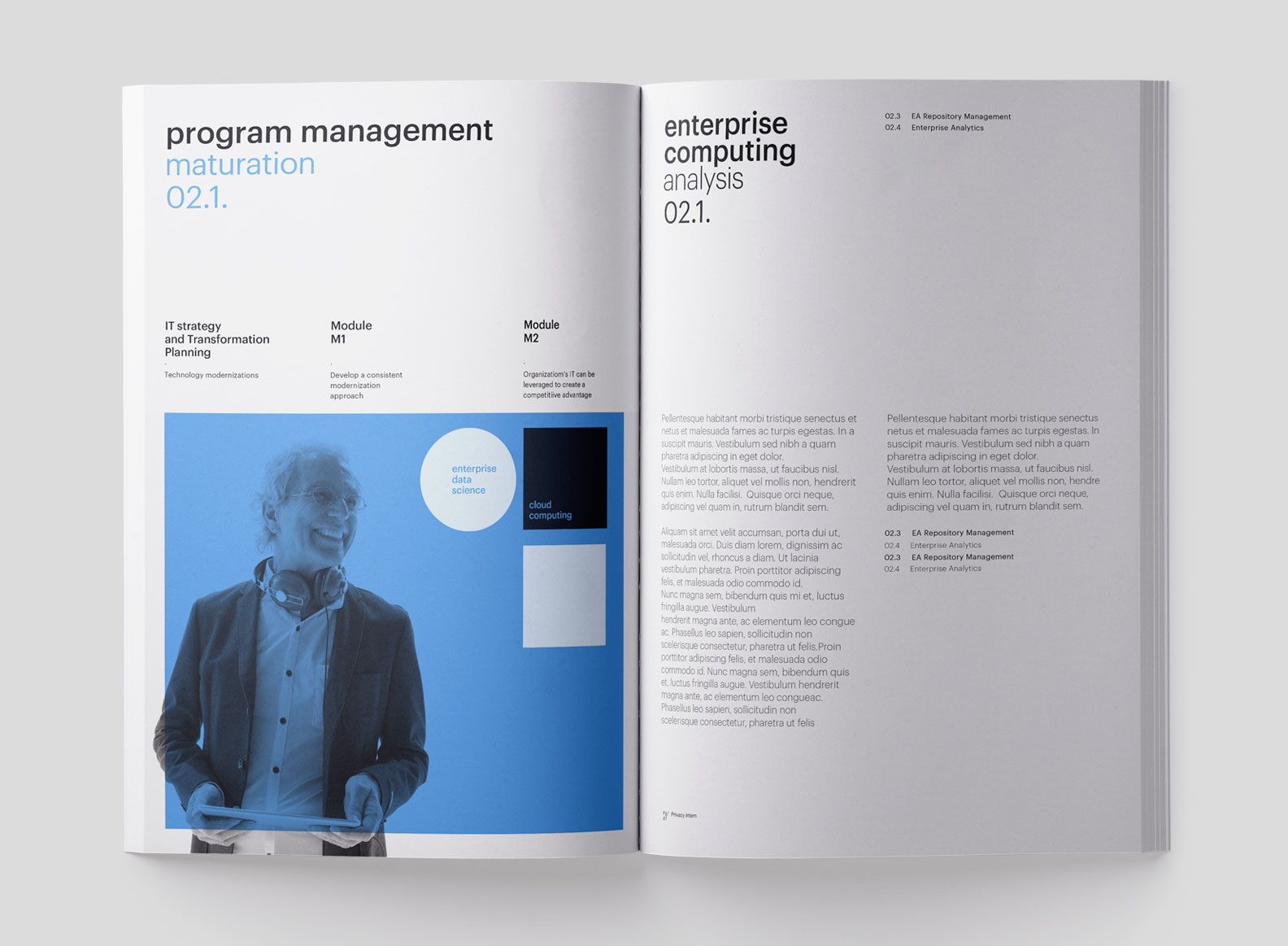 Technology Brand Identity Brochure