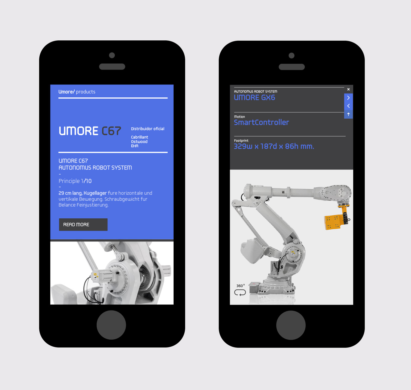 Robotics Responsive Website Mobile Version