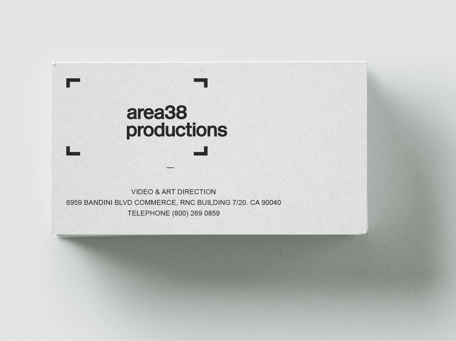 Video Production Branding Business Card