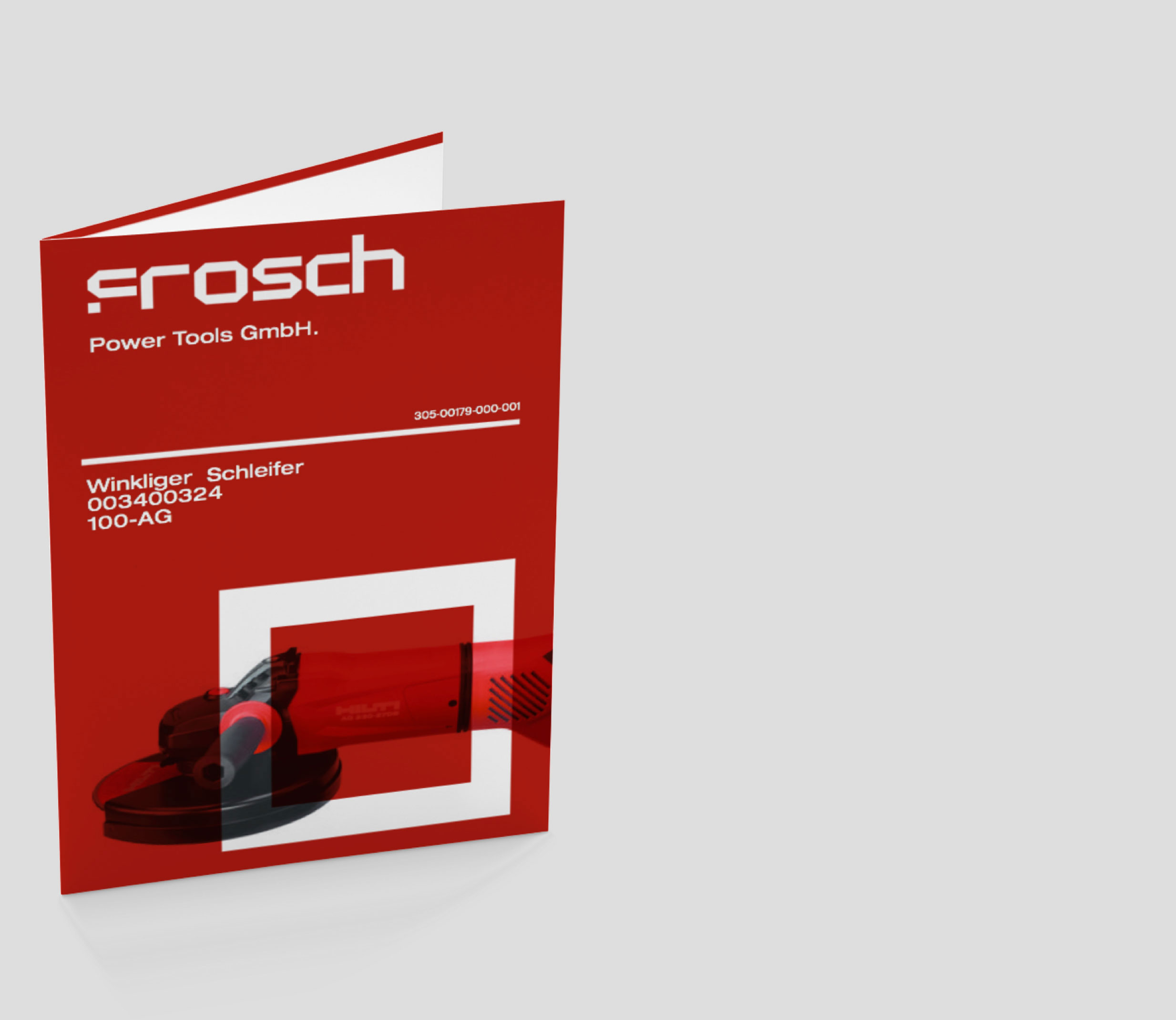 Catalogue Cover for Frosch Power Tools Corporate Identity