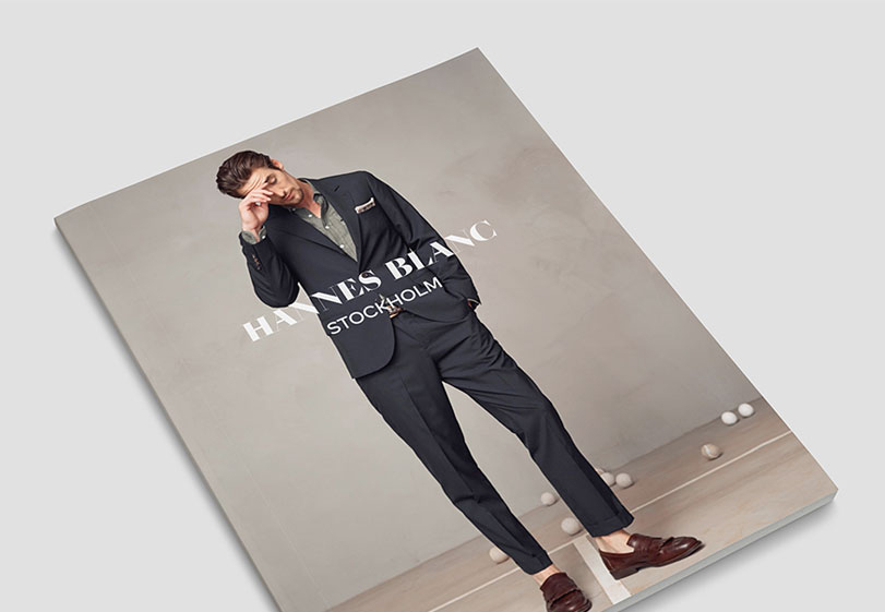 Brochure Cover Menswear Corporate Identity